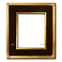 West Frames The Gallery Wood Picture Frame Black with Antique Gold Leaf Panel