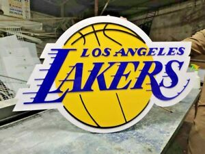 Large NBA Los Angeles Lakers 3D letters Logo Wall Sign Game room Shop waterproof