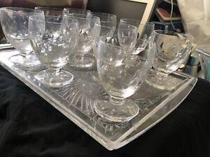 Verres A Vin R Lalique . En Cristal