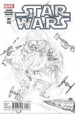 STAR WARS #1 ALEX ROSS SKETCH VARIANT COVER 1:200 MARVEL COMICS 2015