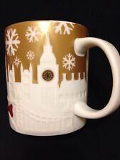 Starbucks London Relief Mug Westminster Eye Big Ben Tower Gold Christmas US Ship