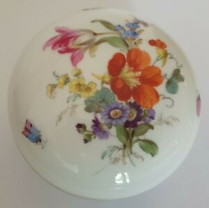 Meissen First Choice Floral Lidded Box 9cm Circa 1900 - 1920