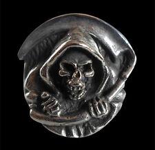 Stainless Grim Reaper Skull Biker Ring Custom Size Mythology Handmade R-152ss