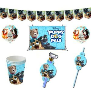 Puppy Dog Pals Bingo Rolly Birthday Party Plates Cups Tablecloth Banner Balloons