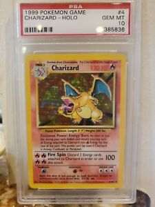 1999 Pokemon Base Set Unlimited Holo Charizard #4 PSA 10 GEM MINT