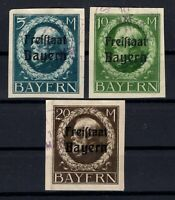 P135625/ BAYERN, OLD GERMANY – MI # 168B / 170B USED – CV 310 $