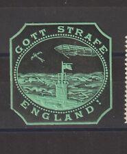 German Poster Stamp Wwi Gott Strafe England Submarine Aviation Zeppelin