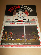 MANCHESTER UNITED V QPR 1984 DIVISION ONE FOOTBALL PROGRAMME