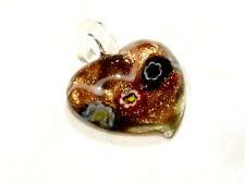 Bijou pendentif coeur cristal Murano pendant