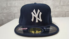 NEW YORK YANKEES New Era 5950 Navy MLB Cap Fitted On Field Hat Team Blue Size 8