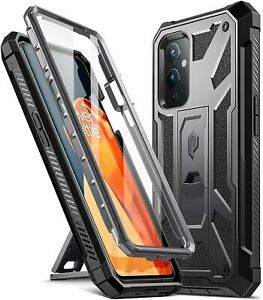 OnePlus 9 5G Cell Phone Case Poetic® Armor Kickstand Shockproof Cover Black