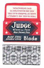 JUDGE vintage double edge SAFETY RAZOR BLADE lametta da barba lame de rasoir
