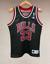 CHICAGO BULLS BASKETBALL SHIRT JERSEY CAMISETA NBA JORDAN CHAMPION BLACK BOYS