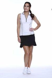 NWT Kevan Hall Ladies XS or Small Black Pull On Flippy Golf Tennis Skort New