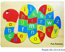 NEW FunFactory Educational Wooden Puzzle Alphabet Snake