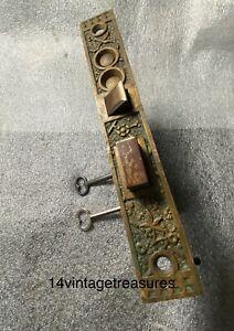 Antique Sargent EKADO Large Entry Mortise Lock Double Keys Pat. Aug. 18/1885