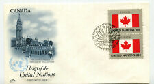 United Nations #410 Flag Series, Canada, ArtCraft, pair,  FDC