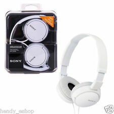 NEW Sony Headphones MDR-ZX110 Overhead Foldable Stereo Sound Headband - WHITE
