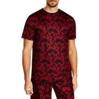 Tallia Sport Mens Floral Print Crew Neck Tee T-Shirt BHFO 6083