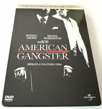 AMERICAN GANGSTER STEELBOOK EXTENDED COLLECTOR'S EDITION 2 DVD FILM ITA OTTIMO