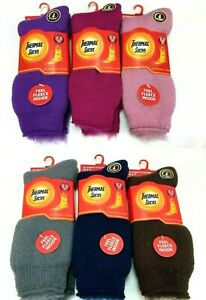 Mens Womens Extra Thick Fleece Brushed Thermal Socks 2.3 Tog Soft Warm Winter UK