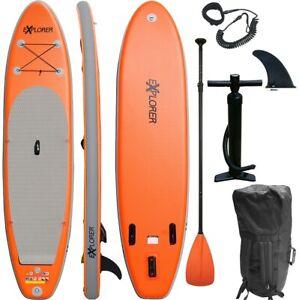 SUP Board EXPLORER Stand Up Paddle orange aufblasbar Paddel ISUP ALF2 320 cm