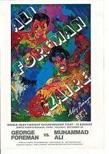 LeRoy Neiman Poster BOXING ART III for ALI-FOREMAN Heavyweight Championship