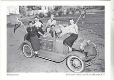 "+PC-Postcard-""Homecoming""/Students in Classic Car""-*University Pk/ Denver (A68-1"