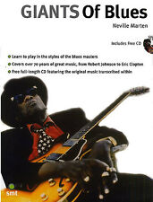 Giants Of Blues Learn to Play Robert Johnson Clapton TAB Music Book & CD