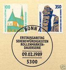BRD 1989: Altötting und Bad Meinberg Nr. 1406 + 1407 mit Bonner Stempel! 1A 1608