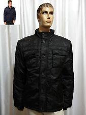 Buffalo David Bitton mens JACOT Military Inspired Front zip Black jacket L NEW