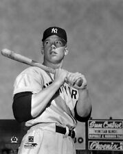 New York Yankees MICKEY MANTLE Glossy 8x10 Photo Baseball Print Young Poster