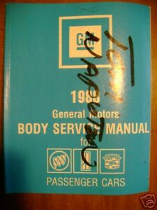 1988 Cadillac Buick Oldsmobile Body Service Manual Cars