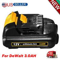 12V 3.0AH Max Lithium Tools Battery for DeWalt DCB120 DCD710 DCF813 DCB127 NEW
