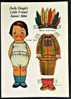 2 Grace Drayton Dolly Dingle Paper Doll Postcards, Friends as Indians. 1980s.