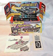 CORGI #267 BATMOBILE 1st EDIZIONE, condizioni eccezionali, scatola originale, istruzioni, ecc.