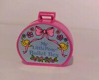 VTG 1980s Hasbro My Little Pony Baby Bonnet School of Dance Ballet Box w/Skirt