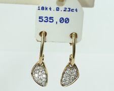 Ohrringe Hänger mit Diamant besetzt 0,23 ct, 18 Karat Gold! eVp 535,00 €