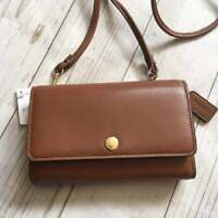 Coach Phone Wallet Crossbody in Saddle Brown 63154