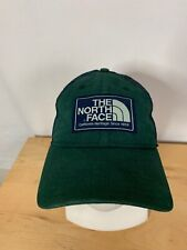 VINTAGE The North Face Mens Trucker Hat  Snap Back Blue Green Patch Distressed
