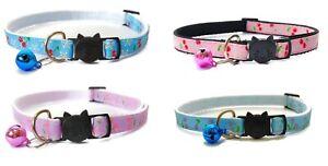 Cat Collars with Bell - Cherries Design   Pet Collars   Quick Release Buckle