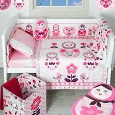 Living Textiles ADELE 6-Piece Nursery Set for Baby Girl - Pink/White