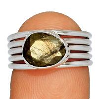 Zawadi Golden Sapphire 925 Sterling Silver Jewelry Ring s.6 BR32029 220F