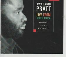 Awadagin Pratt-Live From South Africa-Preludes-Fugues-Music CD- LIKE NEW - .6