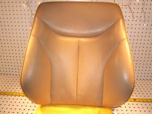 Mercedes Late W140 Sedan R or L seat Back PARCHMENT Leather 1 Cover, Cushion,T2