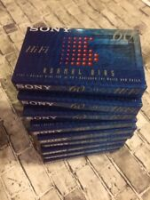 9 SEALED NOS Sony 60 Minute Hi-Fi Normal Bias Type I Audio Cassette Tape