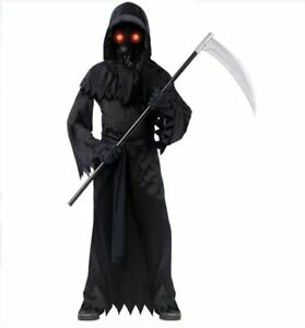 Fade In/Out Unknown Phantom Costume Boy Medium (8-10) Complete Halloween Outfit