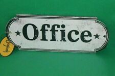 New Shabby Distressed Office Door Sign Plaque