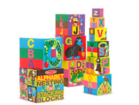 Melissa and Doug Alphabet Nesting and Stacking Blocks - 12782