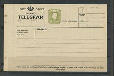 More details for post office telegram gvi 9d olive green form, postal stationery very fine (z140)